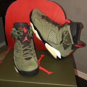 Travis Scott x Air Jordan 6 Retro (Olive) Size 10.